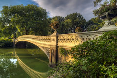 Central Park, New York City now bridge. Central Park, New York City Bow bridge in latye summer Stock Image