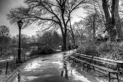 Central Park, New York City after rain storm Stock Image