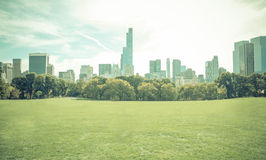 Central park in New york city without people Royalty Free Stock Photography
