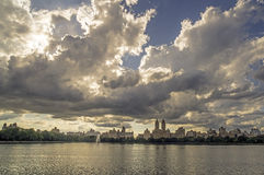 Central Park, New York City reservoir Stock Photos