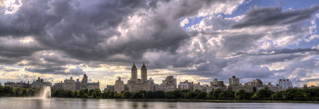 Central Park, New York City reservoir Royalty Free Stock Photography