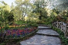 Central Park New York City Shakespeare trädgård Fotografering för Bildbyråer