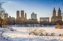 Central Park - New York City in winter. Central Park - New York City with snow in winter Stock Image