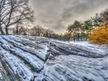 Central Park, New York City in winter stock photography