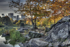 Central Park, New- York Citybogenbrücke Stockbilder