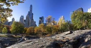 Central Park New York in de herfstkleuren Stock Afbeelding