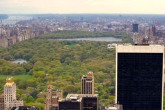 Central Park, New York from a high view Royalty Free Stock Photo