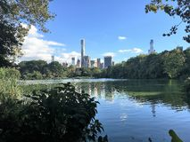 Central Park ,New York,lake view. Central Park lake view in New York City Royalty Free Stock Photography