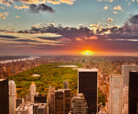 Central Park, New York, seen from the Rockefeller building Royalty Free Stock Photos