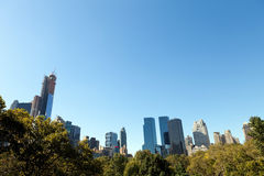 Central Park New York Skyline Royalty Free Stock Photography