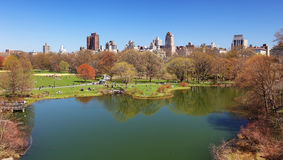Central Park in New York - Turtle pond Royalty Free Stock Images