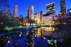 Central Park at Night Royalty Free Stock Photo
