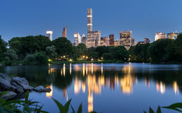 Central Park at night Stock Images
