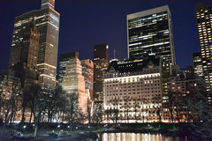 Central Park at Night, New York Stock Image