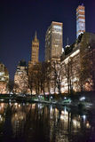 Central Park at Night, New York Royalty Free Stock Photography