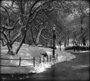 Central park, NY. After a snowfall Royalty Free Stock Images
