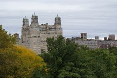 Central Park NY apartments Royalty Free Stock Photos