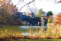 Замок бельведера на Central Park в падении, NYC стоковая фотография