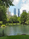 Central park nyc. View towards central park south in manhattan, ny Stock Photography