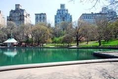 Central Park NYC in de lente stock afbeelding