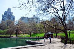 Central Park NYC in de lente royalty-vrije stock foto