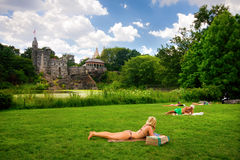Central Park NYC Summer Stock Image