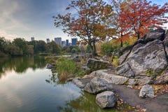 Central Park o lago Fotos de Stock Royalty Free