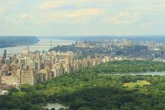 Central Park och övresikt för västra sida Arkivfoton