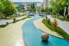 Central Park od Zalau, Salaj okręg administracyjny, Transylvania, Rumunia Obraz Stock