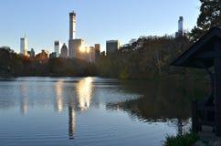 Central Park op 15 November, 2014 de Stad in van Manhattan, New York, de V.S. Royalty-vrije Stock Afbeelding