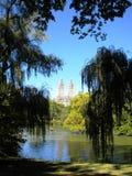 Central Park, opinião do lago, NYC Imagens de Stock Royalty Free