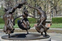 Central Park på våren, NYC Arkivbilder