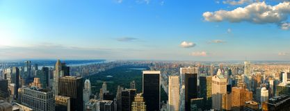 Central Park Panorama Royalty Free Stock Images