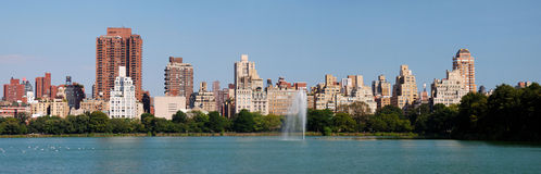 Central Park panorama in Manhattan Stock Image