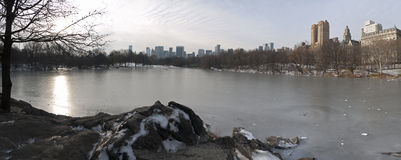 Central Park panoramic Royalty Free Stock Photos