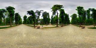 Central Park (Parcul Central) in Cluj-Napoca, Romania. 360 panorama of Central Park (Parcul Central) on a cloudy day in Cluj-Napoca, Romania Stock Photos