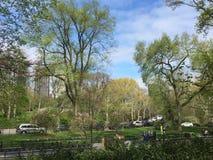 Central Park a partir de la 6ta avenida Imágenes de archivo libres de regalías
