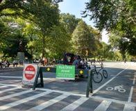 Central Park, Pedicabs, Манхаттан, NYC, NY, США Стоковое Изображение RF