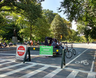 Central Park Pedicabs, Manhattan, NYC, NY, USA Royaltyfri Bild