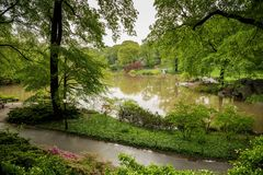 Central Park po lekkiego deszczu w Nowy Jork Obrazy Royalty Free