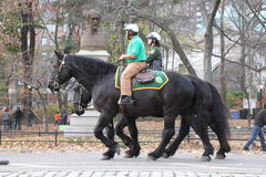 Central Park police Stock Image