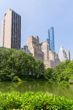 Central Park The Pond Manhattan New York Royalty Free Stock Photo