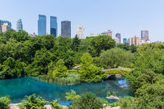 Central Park The Pond Manhattan New York Stock Photography