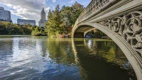 Central Park, pont d'arc de New York City Image stock