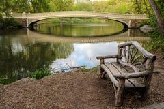 Central Park, ponte dell'arco di New York Fotografie Stock