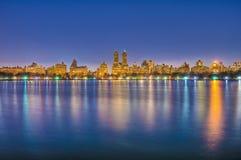 Central Park, réservoir de Jacqueline Kennedy Onassis Images stock