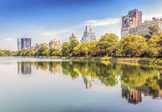 Free Central Park Reflected In Lake, New York City. Stock Images - 61759554