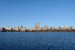 Central Park reservoir Royalty Free Stock Photos