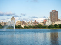 The Central Park reservoir in New York Stock Photos