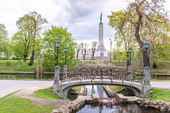 Central park in Riga city by spring, Latvia Stock Images